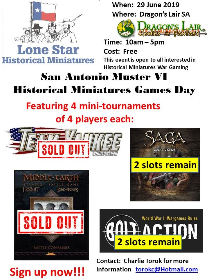 MillenniumCon - Texas' Biggest Historical Miniatures Wargame Convention
